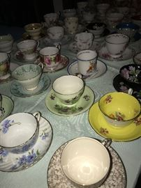 HUGE COLLECTION OF TEA CUPS