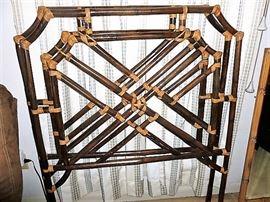 Twin bamboo headboards