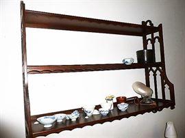 Vintage mahogany shelf