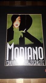 Framed Modiano Cigarette Advertisement