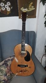 Willie Nelson Autographed Guitar '97