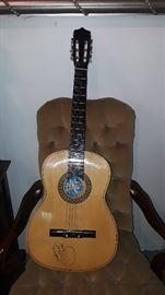 Autographed Garth Brooks Acoustic Guitar