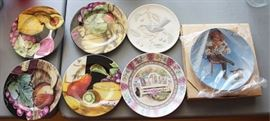 box lot of collectible plates