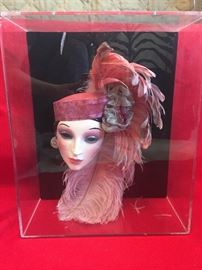 Clay Pink Peacock Doll