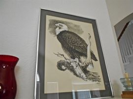 AMERICAN EAGLE PRINT, SIGNED