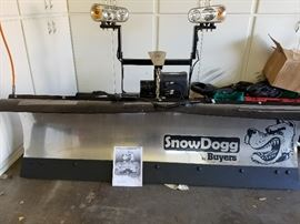 Snow Dog Snow Plow. Can work on Jeeps or Pick-Ups. New blade.