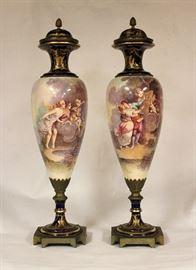 Pair of French Sevre Vase