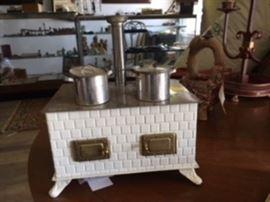 vintage toy stove