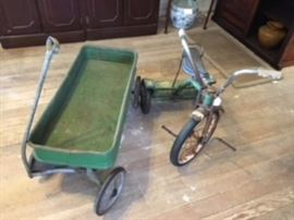 Vintage Wagon & Trike