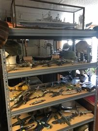 Hundreds of ship and airplane models