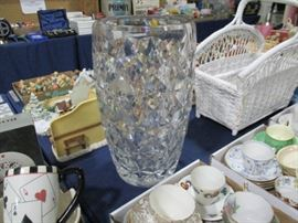 "Baccarat Cystal Vase 16"" Tall"