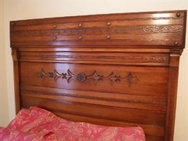 Art & Crafts full size Head Board with matching footboard. Immaculate shape. Asking $275.