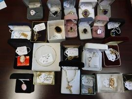 Gold and fine silver jewelry. Fantastic stones!