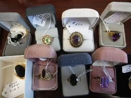 Priced to sell, but not to scrap. These are very wearable items. She was around a size 7-8 on rings