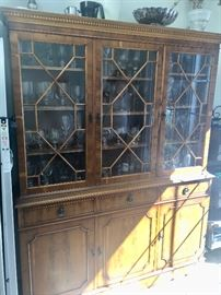 Burl Maple china cabinet