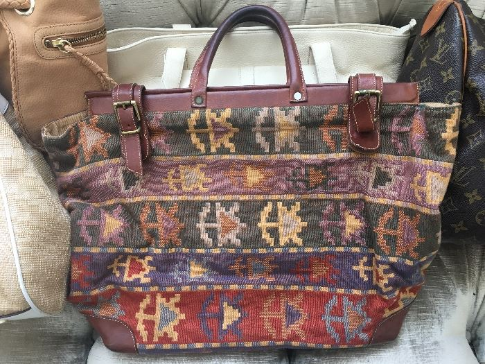 Vintage Furla Carpet Bag