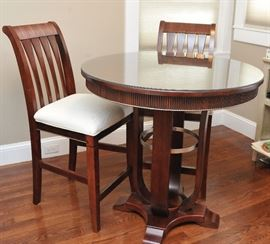 Bistro / pub table with two chairs