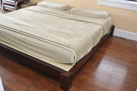 King size Japanese tatami mat platform bed