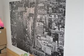 Large scale NYC print on canvas