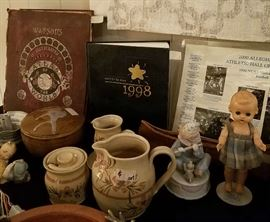 Vintage doll, Yearbook, Various Home Décor & Collectibles (more coming)