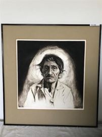 Signed McCormick Mexican II Etching, Artist Harry McCormick