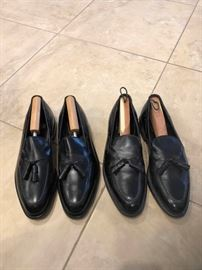 Two Pairs Johnston Murphy Black Shoes