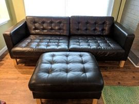 Leather Mid Century Style Chair