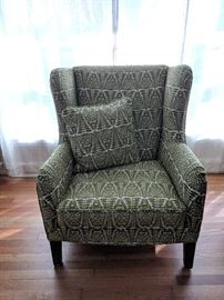Brand New Retro Style Wing Back Chair