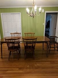Vintage Ethan Allen Dining Table and Vintage High Chair