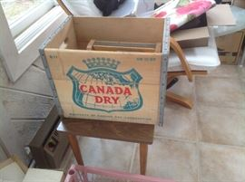 Wooden Canada Dry box
