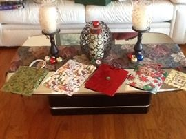 Mirrored top coffee table $75