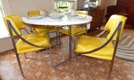 1970's Modern breakfast table & 4 chairs