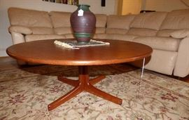 MCM Danish Modern round coffee table