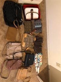 All Coach bags in great shape, many with bags.