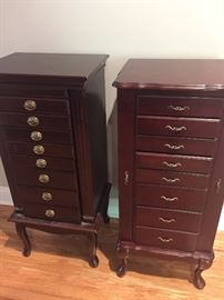 two of three tall jewelry boxes  (and boy do we have the costume jewelry)