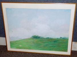 "Dennis Leon ""Ridge Edge #2"" 1982 Pastel on Paper"