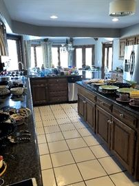 Dishes, bar ware,  small kitchen appliances, Crate & Barrel Fiesta ware and MUCH MUCH more!