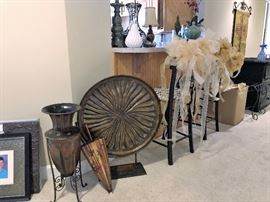 Wedding decor, home decor and side tables.