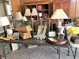 Hooker Hardwood Furniture, Gorham Crystal Athea Cut Glasses, baskets, lanterns and more!