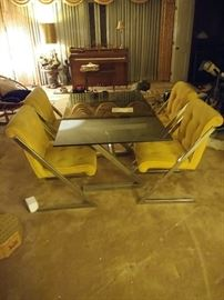 Milo Baughman style table and chairs