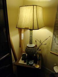 Tall ceramic lamp