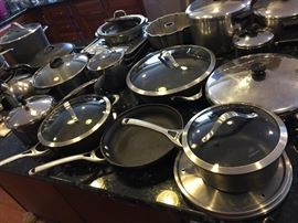 Large selection of Calphalon Cook ware.