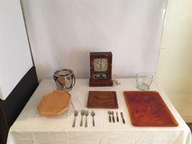 Clock, Ice Bucket, Tray, Cheese Board  https://www.ctbids.com/#!/description/share/7748