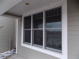 New senco double hung windows oak