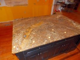 amish kitchen island with granite counter tops