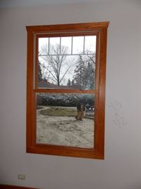 New senco double hung  mission style windows oak