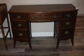 Antique Curved Front Desk
