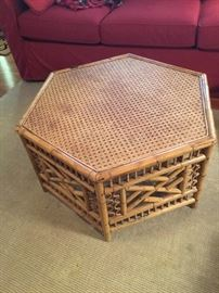 Octogonal wicker table
