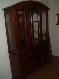 Non matching china cabinet. It will look great at your house.