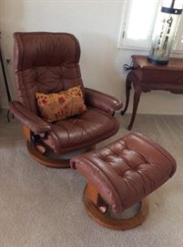 Vintage Eames Style Recliner and Ottoman